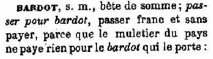 bardot au XVIe siècle