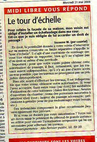 Androune andronne etymologie occitane - Servitude de tour d echelle ...