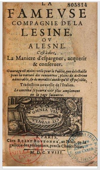 traduction de Della compagnia della lesina
