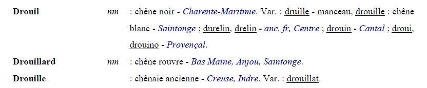 toponyme drouil