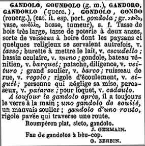 gandolo dans Tresor Mistral